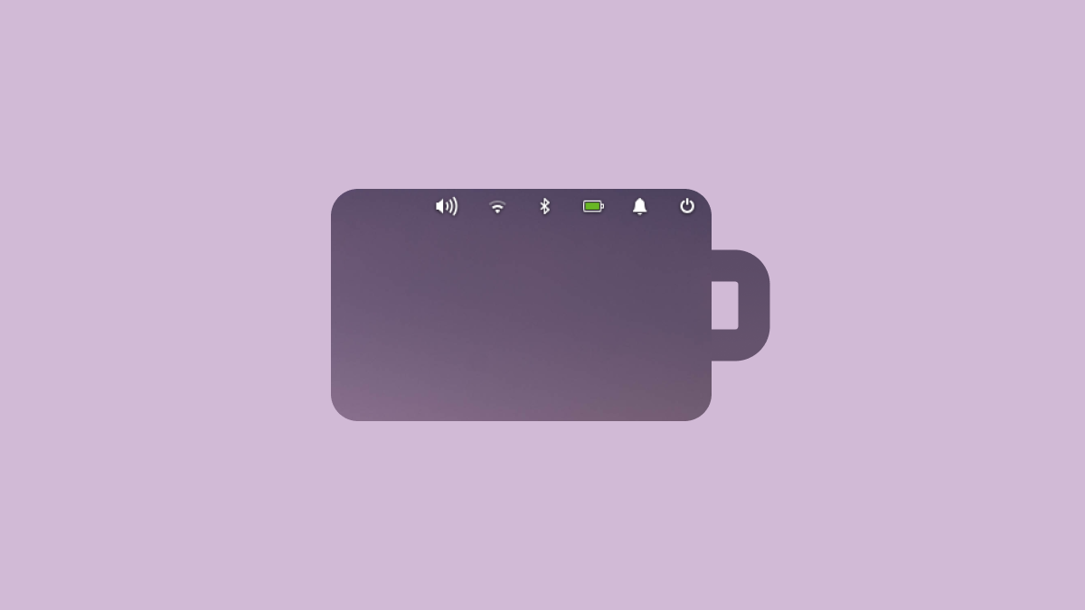 On elementary OS Battery Icon Looks Good Unlike On macOS Big Sur