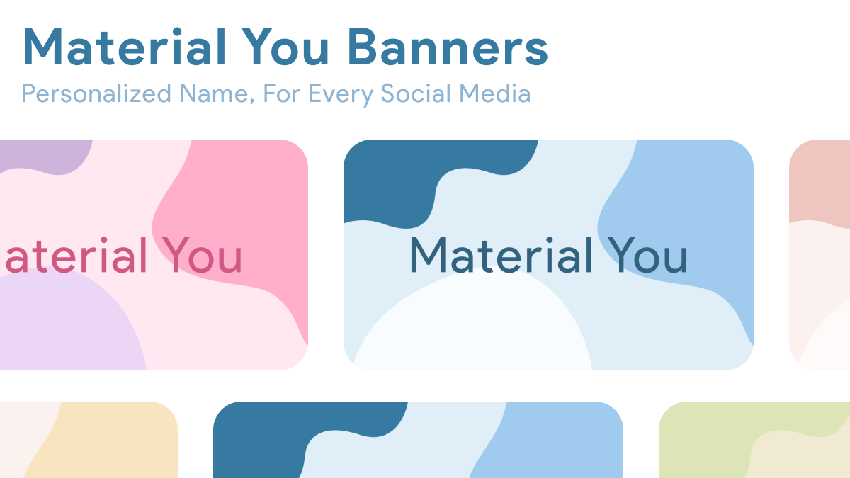 Get Your Own Material You Banner