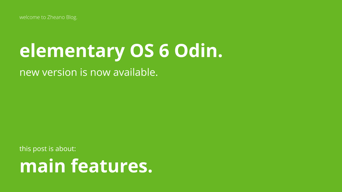 What's New – elementary OS 6 Odin